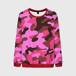 Свитшот мужской Камуфляж: розовый/коричневый цвета 3D-красный — фото 1