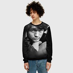 Свитшот мужской Виктор Цой цвета 3D-черный — фото 2