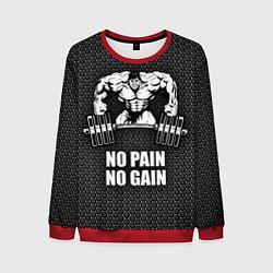 Мужской свитшот No pain, no gain