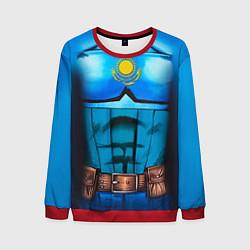 Свитшот мужской Капитан Казахстан цвета 3D-красный — фото 1