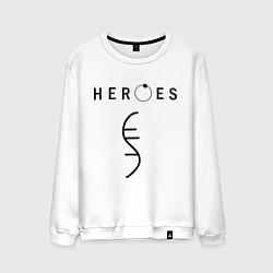 Свитшот хлопковый мужской Heroes Symbol цвета белый — фото 1