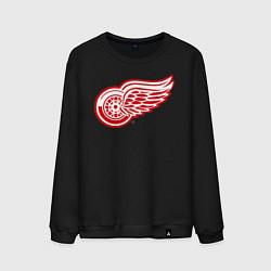 Свитшот хлопковый мужской Detroit Red Wings цвета черный — фото 1