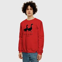 Свитшот хлопковый мужской GUSSI Ga-Ga-Ga цвета красный — фото 2