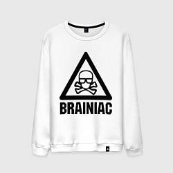 Свитшот хлопковый мужской Brainiac цвета белый — фото 1
