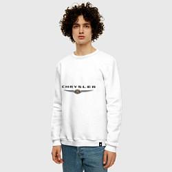 Свитшот хлопковый мужской Chrysler logo цвета белый — фото 2