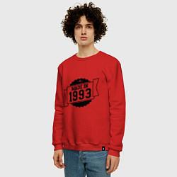Свитшот хлопковый мужской Made in 1993 цвета красный — фото 2