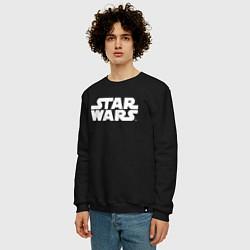 Свитшот хлопковый мужской Star Wars цвета черный — фото 2