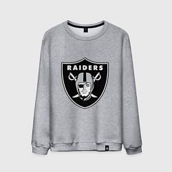 Свитшот хлопковый мужской Raiders цвета меланж — фото 1