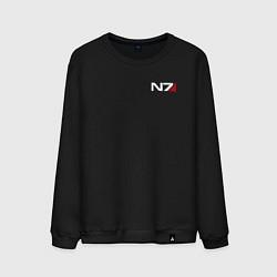 Свитшот хлопковый мужской Mass Effect N7 цвета черный — фото 1