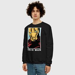 Свитшот хлопковый мужской Iron Man цвета черный — фото 2