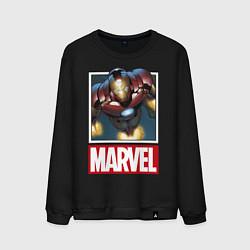 Свитшот хлопковый мужской Iron Man: Mark III цвета черный — фото 1