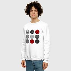 Свитшот хлопковый мужской TOP: Blurryface цвета белый — фото 2