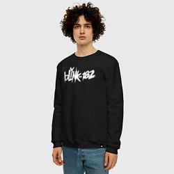 Свитшот хлопковый мужской Blink 182 цвета черный — фото 2
