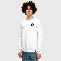 Свитшот хлопковый мужской BMW M PERFORMANCE 2020 цвета белый — фото 2