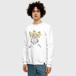 Свитшот хлопковый мужской Ice Cube King цвета белый — фото 2