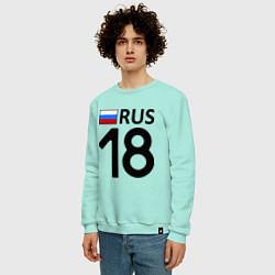 Свитшот хлопковый мужской RUS 18 цвета мятный — фото 2