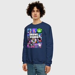 Свитшот хлопковый мужской BRAWL STARS Gta Style цвета тёмно-синий — фото 2