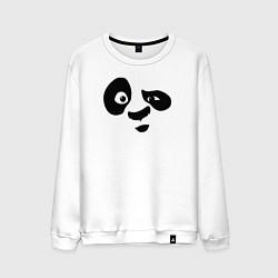 Свитшот хлопковый мужской Панда цвета белый — фото 1