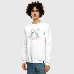 Свитшот хлопковый мужской Cyberpunk 2077 цвета белый — фото 2