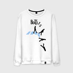 Свитшот хлопковый мужской The Beatles: break down цвета белый — фото 1