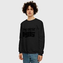 Свитшот хлопковый мужской The best of 1985 цвета черный — фото 2