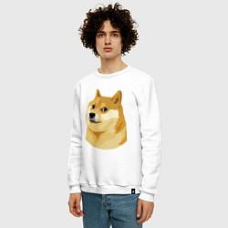 Свитшот хлопковый мужской Doge цвета белый — фото 2