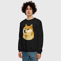 Свитшот хлопковый мужской Doge цвета черный — фото 2