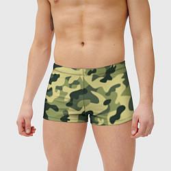 Мужские плавки Камуфляж: зеленый/хаки цвета 3D — фото 2
