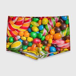 Мужские плавки Сладкие конфетки цвета 3D — фото 1