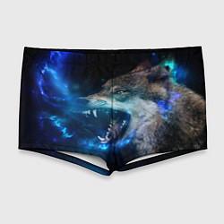 Мужские плавки Волчара Юморит цвета 3D — фото 1