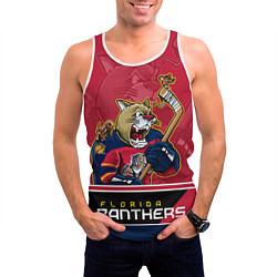 Майка-безрукавка мужская Florida Panthers цвета 3D-белый — фото 2