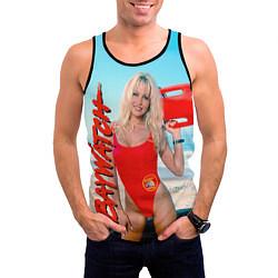 Майка-безрукавка мужская Baywatch: Pamela Anderson цвета 3D-черный — фото 2
