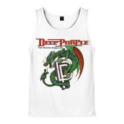 Майка-безрукавка мужская Deep Purple: Green Gragon цвета 3D-белый — фото 1