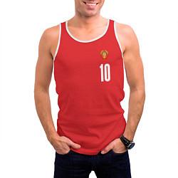 Майка-безрукавка мужская Сборная СССР по баскетболу цвета 3D-белый — фото 2