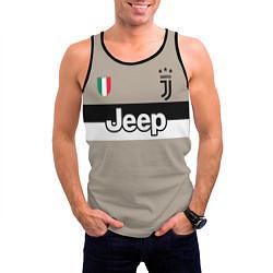Майка-безрукавка мужская FC Juventus: Away 18/19 цвета 3D-черный — фото 2