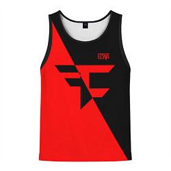 Майка-безрукавка мужская FaZe Clan: Red & Black цвета 3D-черный — фото 1