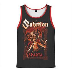 Майка-безрукавка мужская Sabaton - Sparta цвета 3D-красный — фото 1