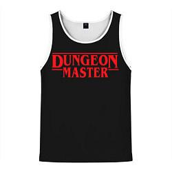 Майка-безрукавка мужская Stranger Dungeon Master цвета 3D-белый — фото 1