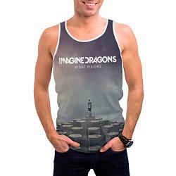 Майка-безрукавка мужская Imagine Dragons: Night Visions цвета 3D-белый — фото 2
