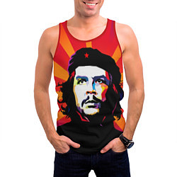 Майка-безрукавка мужская Че Гевара цвета 3D-красный — фото 2