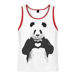 Мужская майка без рукавов Panda Love