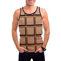 Майка-безрукавка мужская Шоколад цвета 3D-черный — фото 2