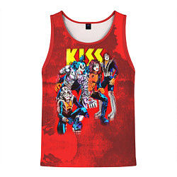 Майка-безрукавка мужская KISS: Hot Blood цвета 3D-красный — фото 1