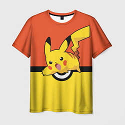 Мужская 3D-футболка с принтом Pikachu, цвет: 3D, артикул: 10103949803301 — фото 1