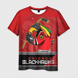 Футболка мужская Chicago Blackhawks цвета 3D — фото 1