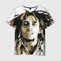 Футболка мужская Bob Marley: Mono цвета 3D — фото 1