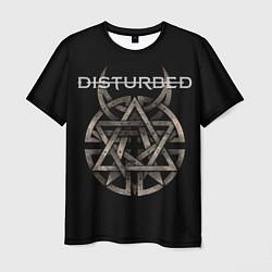Футболка мужская Disturbed Logo цвета 3D — фото 1