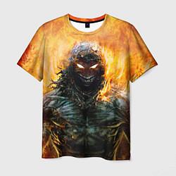 Футболка мужская Disturbed: Monster Flame цвета 3D — фото 1