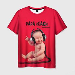Футболка мужская Paparoach: Music Kid цвета 3D — фото 1