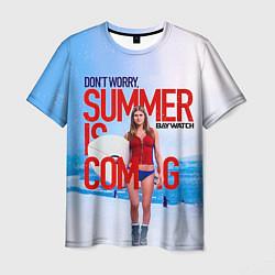 Футболка мужская Summer is coming цвета 3D — фото 1
